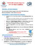 TUT/CSIR Scholarships for 2012 B-Tech students Attentio