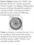 "Usury is contrary to nature because ""it is in accordance with nature that money should increase from natural goods and not from money itself."