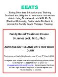 Eating Disorders Education and Training Scotland are delighted to announce that we are able to bring Dr James Lock M.D. Ph.D, Stanford University, California to Scotland to provide his Family Based Therapy Training