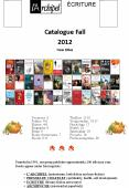 Catalogue Fall 2012 New titles