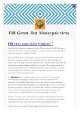 FBI Green dot money virus- isupport365