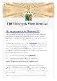 FBI Moneypak virus removal- isupport365