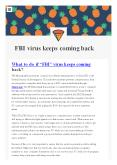 FBI virus keeps comming back