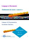 Langages et Documents  Traitements des textes
