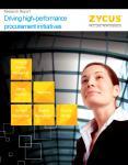 Driving high-performance procurement initiatives
