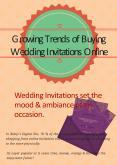 Growing Trends of Buying Wedding Invitations Online