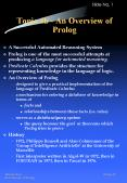 Topic 4b - An Overview of Prolog
