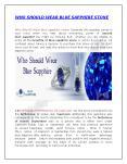 Who Should Wear Blue Sapphire Stone