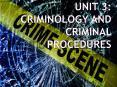 Unit 3: Criminology and Criminal Procedures