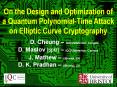 On the Design and Optimization of a Quantum Polynomial-Time Attack on Elliptic Curve Cryptography