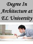 Degree In Architecture at EL University
