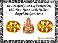Invite Good Luck and Prosperity this New Year with Yellow Sapphire Gemstone