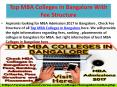 Top MBA Colleges in Bangalore With Fee Structure