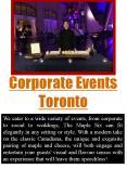 Corporate Events Toronto
