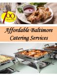 Affordable Baltimore Catering Services