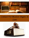 Contact For Masters Degree In Law