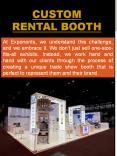 Custom Rental Booth