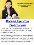 Korean Eyebrow Embroidery