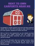 Rent To Own Carports Near Me