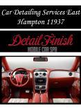 Car Detailing Services East Hampton 11937