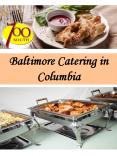 Baltimore Catering in Columbia
