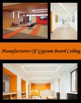 Manufacturers Of Gypsum Board Ceiling
