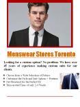 Menswear Stores Toronto