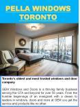 Pella Windows Toronto