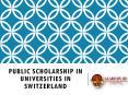 Public Scholarship in Universities in Switzerland