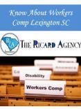 Know About Workers Comp Lexington SC
