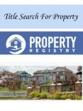 Title Search For Property