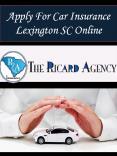 Apply For Car Insurance Lexington SC Online