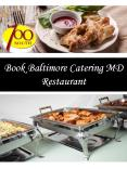Book Baltimore Catering MD Restaurant