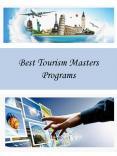 Best Tourism Masters Programs
