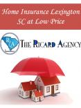 Home Insurance Lexington SC at Low Price