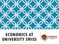 Economics at university swiss