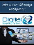 Hire us For Web Design Lexington SC