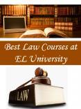 Best Law Courses at EL University