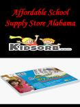 Affordable School Supply Store Alabama