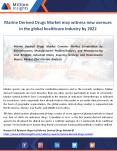 Marine derived drugs industry Would be bound to emerge in terms of biomaterials and supplements in 2022