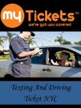 Texting And Driving Ticket NYC