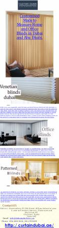 Customised Made to Measure Home and Office Blinds in Dubai and Abu Dhabi