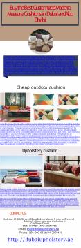 Buy the Best Customized Made to Measure Cushions in Dubai and Abu Dhabi