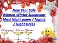 New Year Sale  Women Winter Sleepwear Maxi Night gown / Nighty / Night Dress