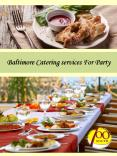 Baltimore Catering services For Party
