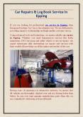 Car Repairs & Log Book Service In Epping