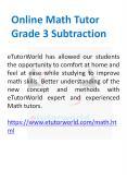 Online Math Tutor Grade 3 Subtraction