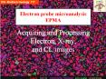 Acquiring and Processing Electron, Xray, and CL images