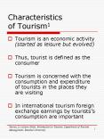 Characteristics of Tourism1