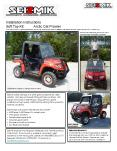 Seizmik makes soft tops and other great accessories for utility vehicles. Our tops are the best fitt